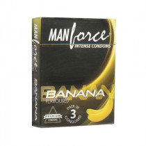 Manforce Banana Flavoured Condoms 3's