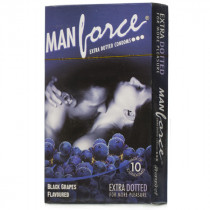 Manforce Black Grapes Extra Dotted Condoms 10's
