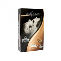 Manforce Extra Dotted Condoms - Coffee Flavor 10`s