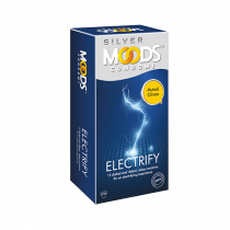Moods Silver Electrify Dotted Condoms 12's
