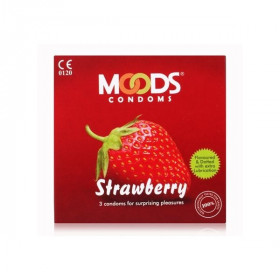 Moods Strawberry Flavoured Condoms 3's