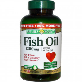 Sexcare Nature's Bounty Fish Oil 1200 mg - 120 Softgels